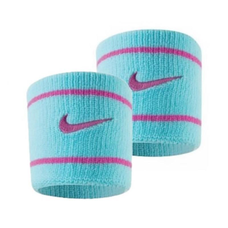 Munhequeira Nike Pequena Dri Fit Azul Gelo e Pink