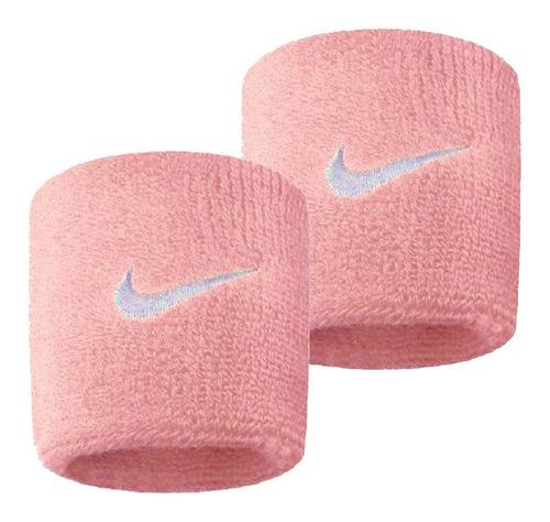 Munhequeira Nike Pequena Perfect Rosa e Branco