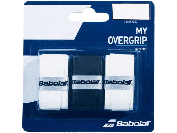 Overgrip Babolat My Preto e Branco Cartela c/3 Unidades