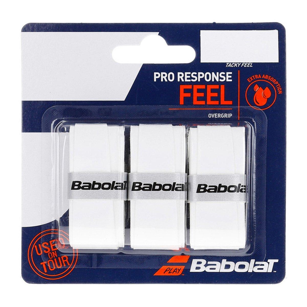 Overgrip Babolat Pro Response Branco Cartela c/3 Unidades
