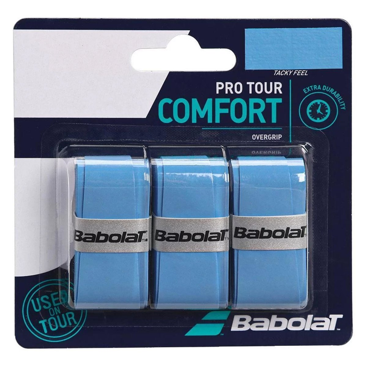Overgrip Babolat Pro Tour Azul Cartela c/3 Unidades