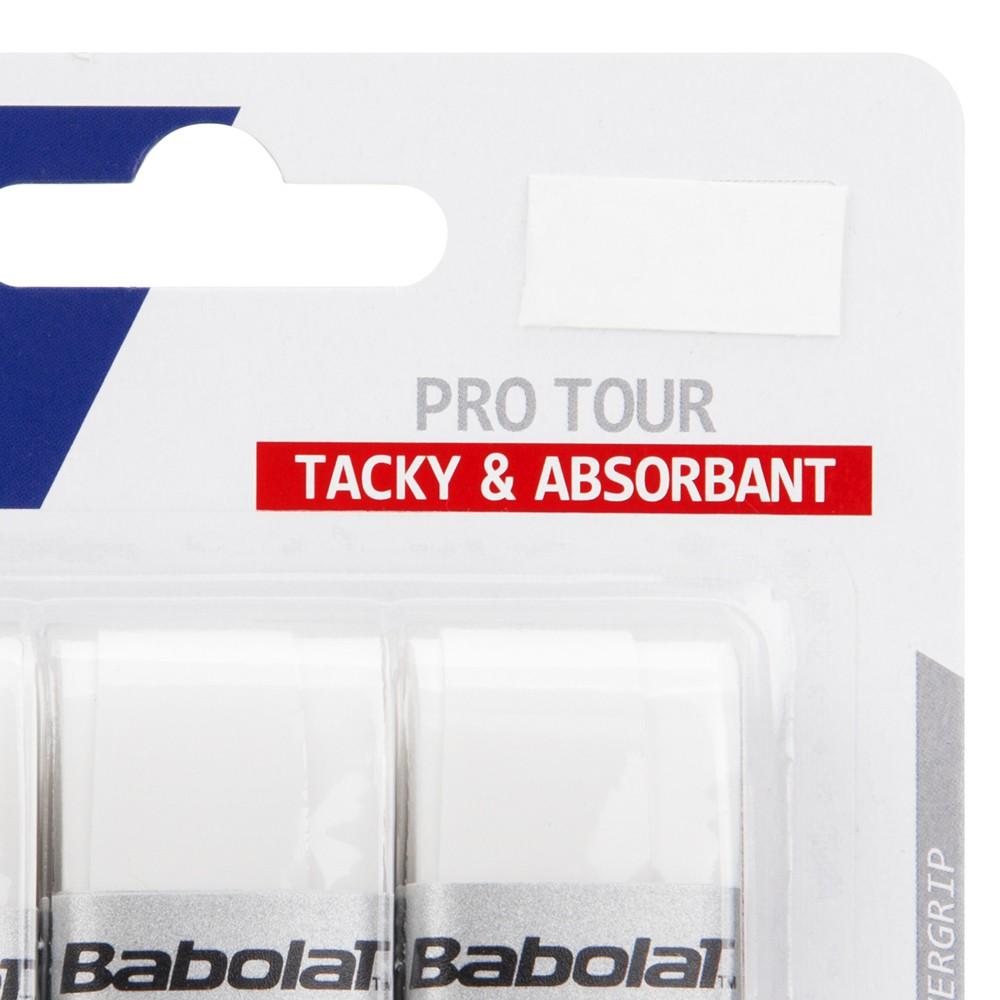 Overgrip Babolat Pro Tour Branco Cartela c/3 Unidades