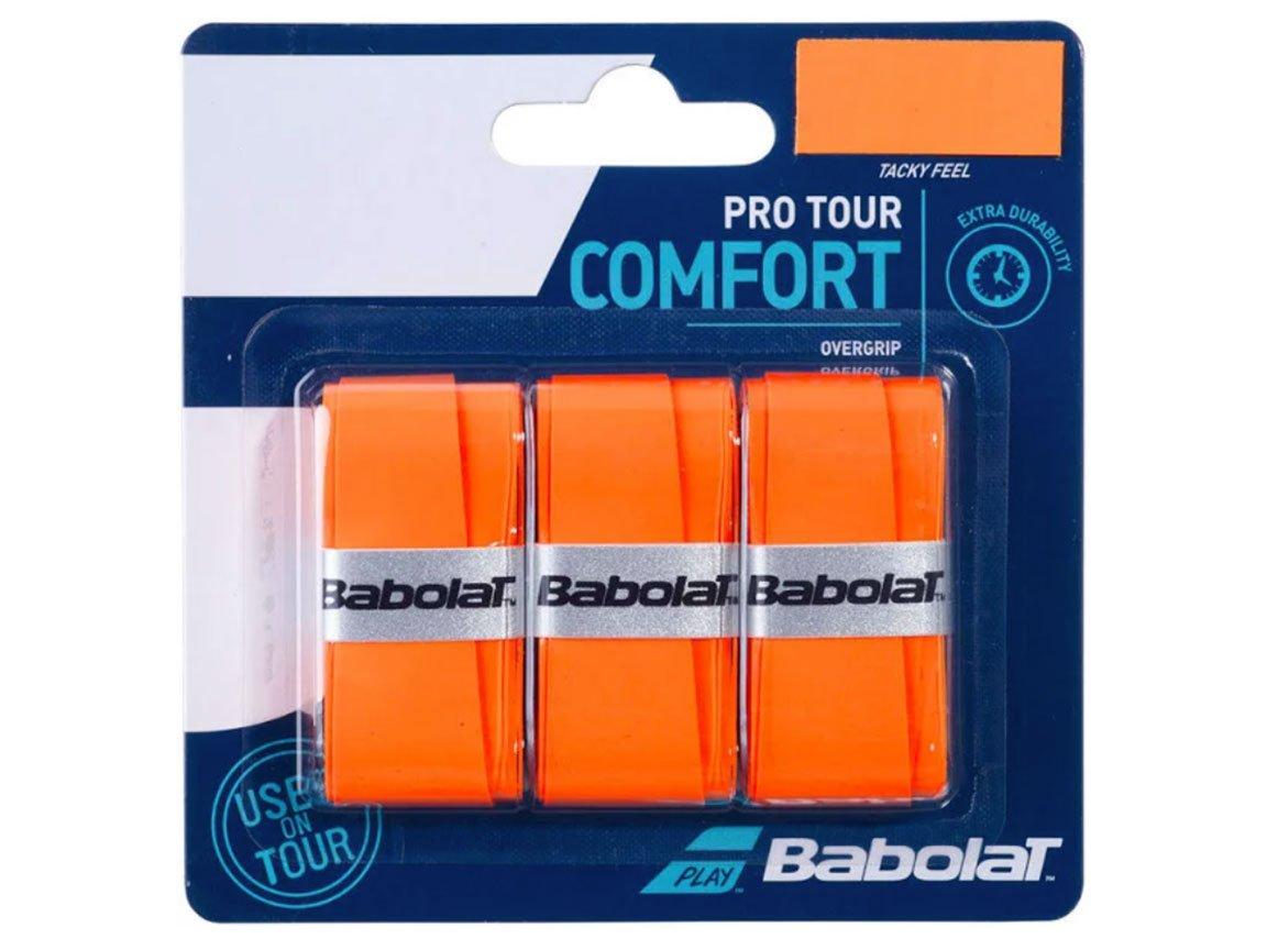 Overgrip Babolat Pro Tour Laranja Cartela c/3 Unidades