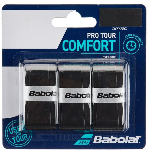Overgrip Babolat Pro Tour Preto Cartela c/3 Unidades