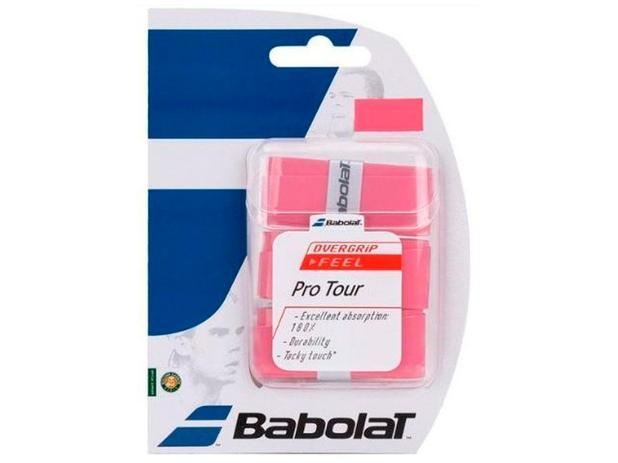 Overgrip Babolat Pro Tour Rosa Cartela c/3 Unidades
