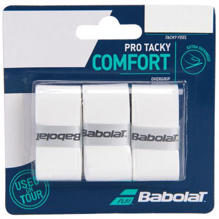 Overgrip Babolat Pro Tracky Branco Cartela c/3 Unidades
