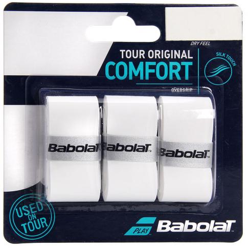 Overgrip Babolat Tour Original Branco Cartela c/3 Unidades