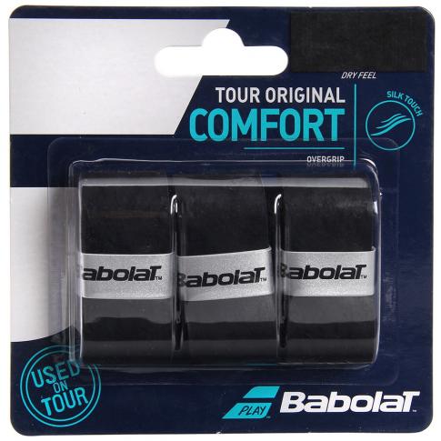Overgrip Babolat Tour Original Preto Cartela c/3 Unidades