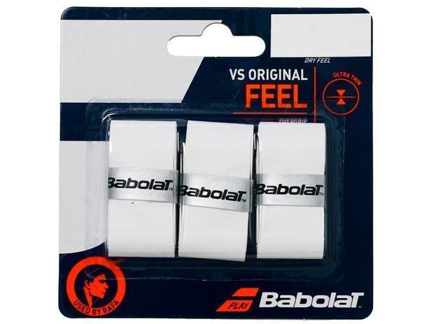 Overgrip Babolat VS Original Branco Cartela c/3 Unidades