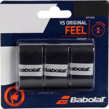 Overgrip Babolat VS Original Preto Cartela c/3 Unidades
