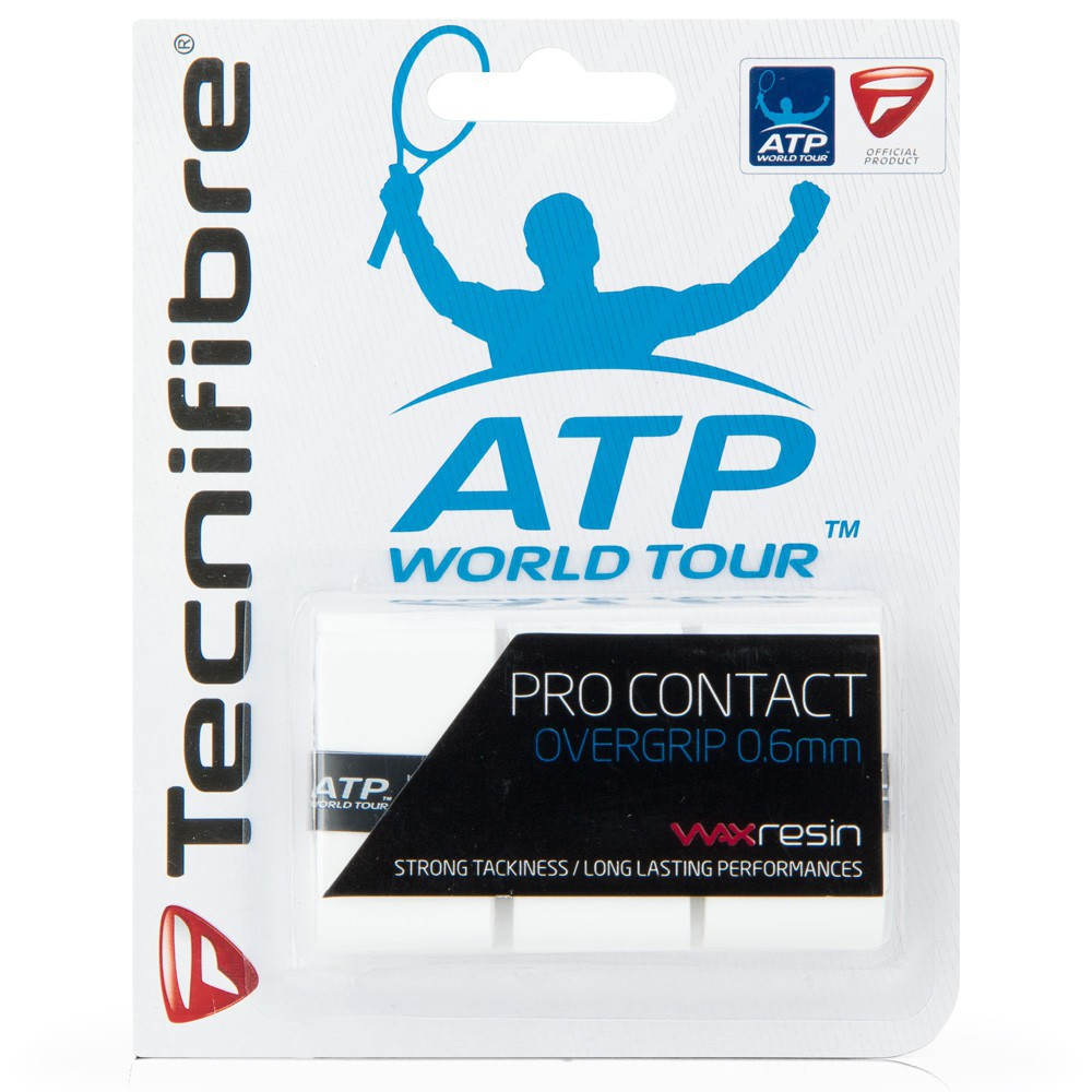 Overgrip Tecnifibre Pro Contact Branco - 0.6mm