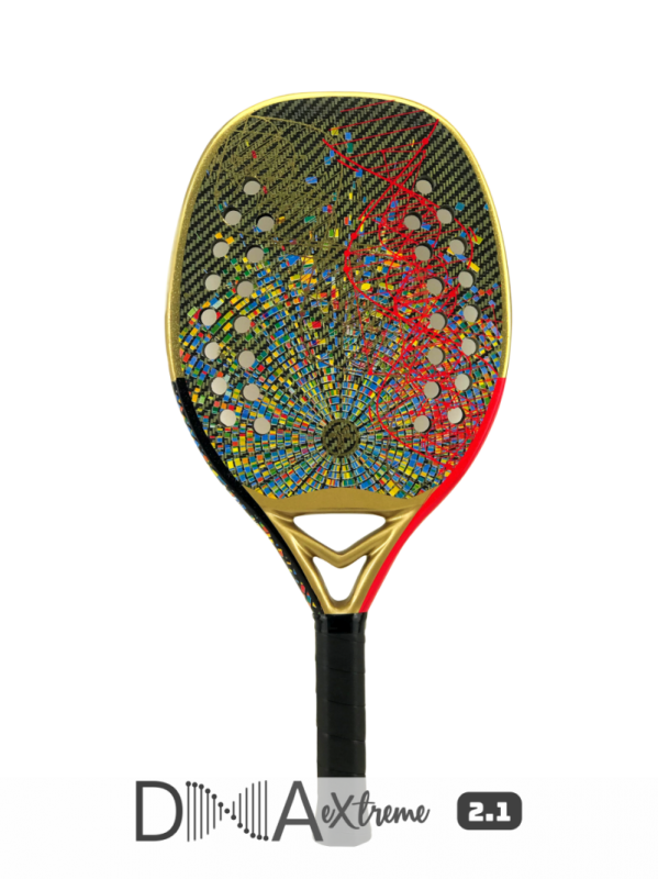 Raquete de Beach Tennis Turquoise DNA Extreme Red 2021