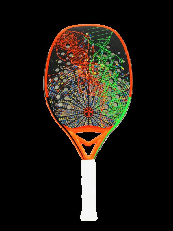 Raquete de Beach Tennis Turquoise DNA Orange 2021