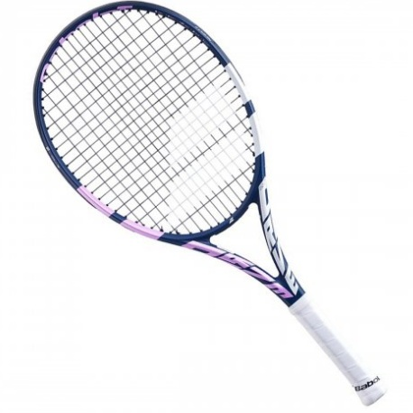 Raquete de Tênis Babolat Drive Jr 25 Girl Azul Rosa e Branco L0