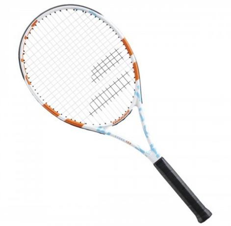 Raquete de Tênis Babolat Evoke 102 Women Branco Azul e Laranja L2