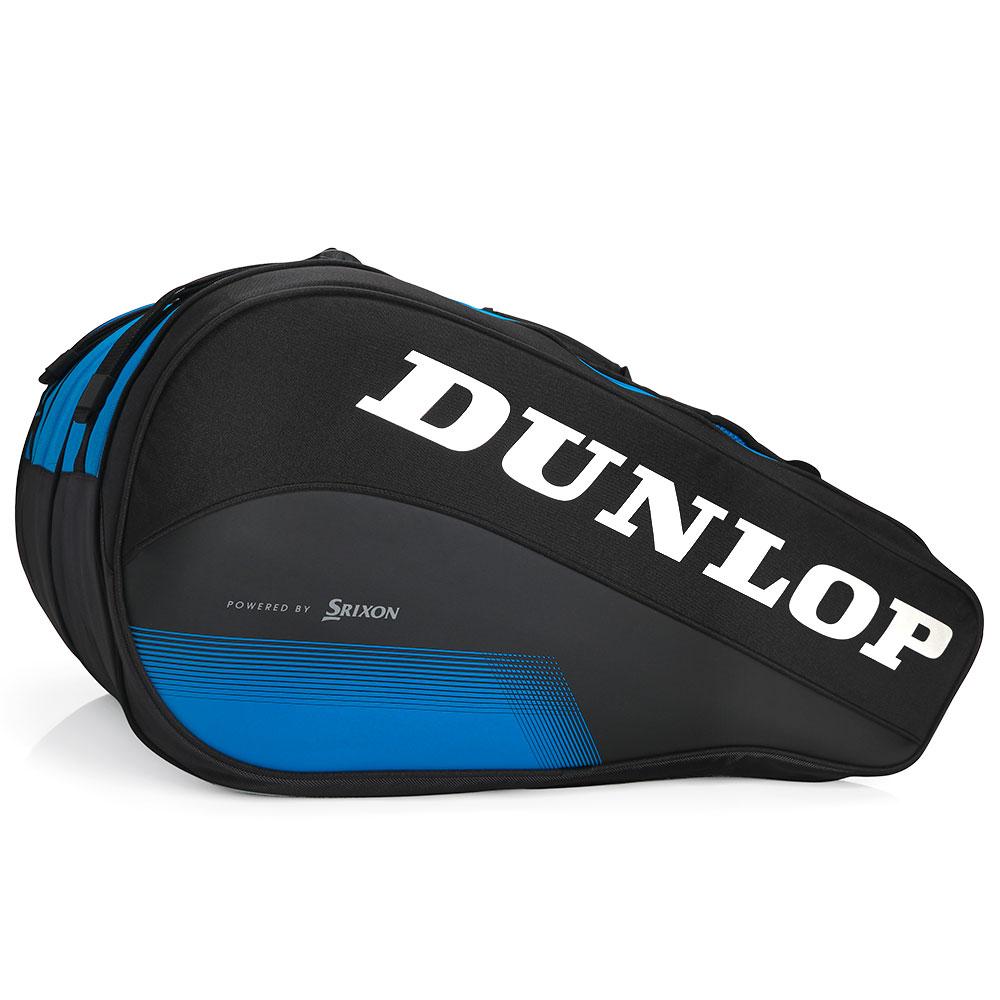 Raqueteira Dunlop FX Performance X12 Preto e Azul