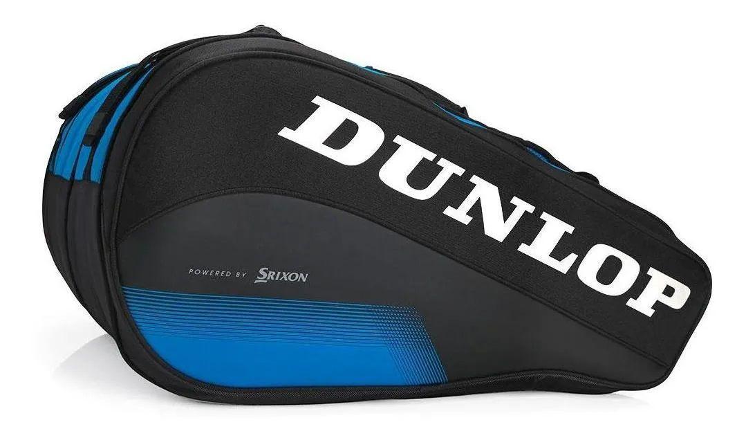 Raqueteira Dunlop FX Performance X8 Preto e Azul