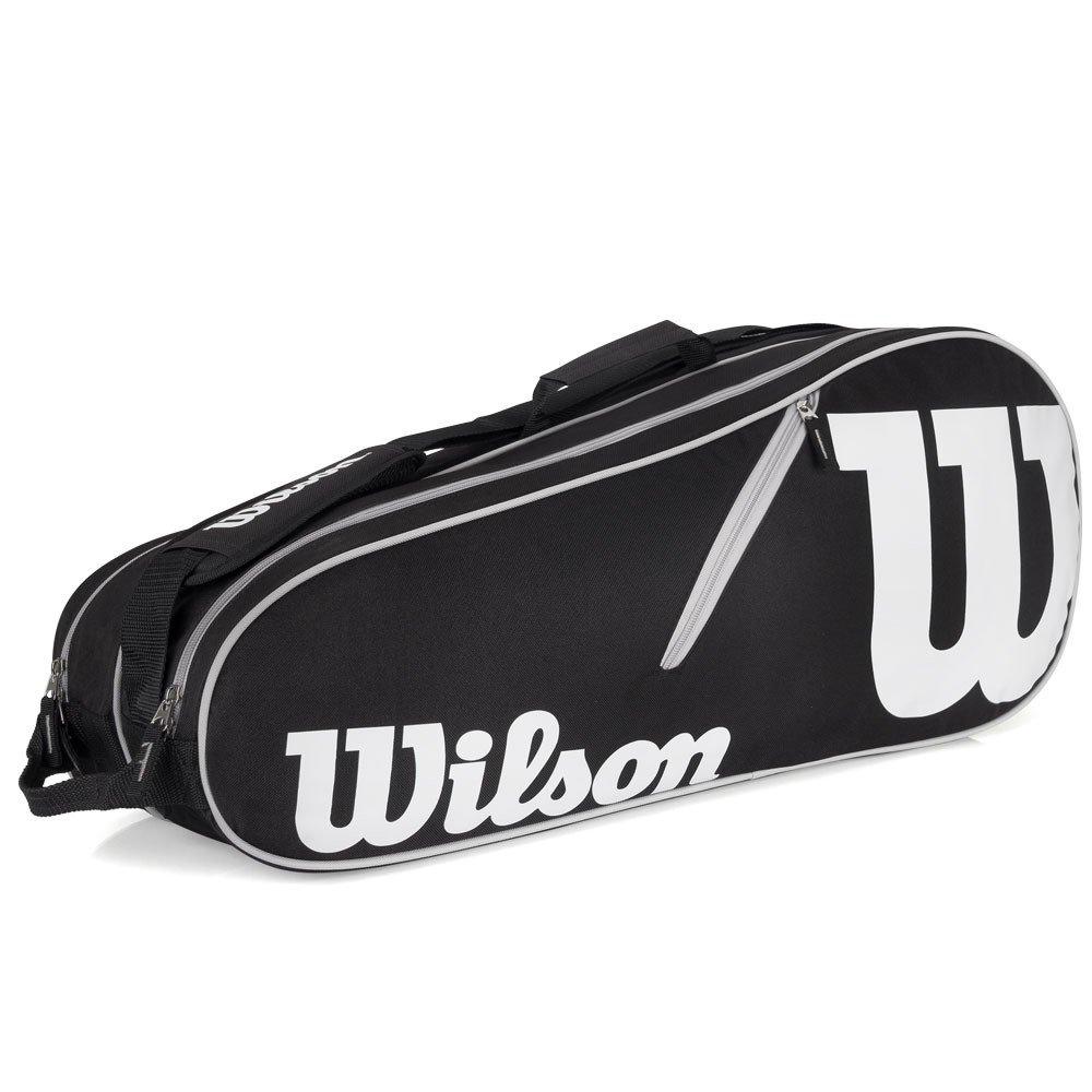 Raqueteira Wilson Advantage II 6R Preto e Branco