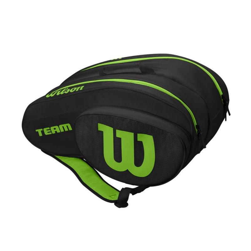 Raqueteira Wilson Beach Tênnis Preto e Verde