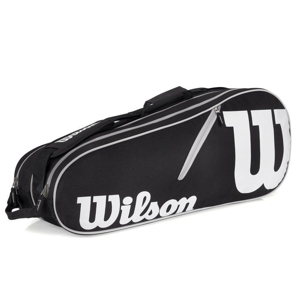 Raqueteira Wilson ESP Advantage II X6 Preto e Branco