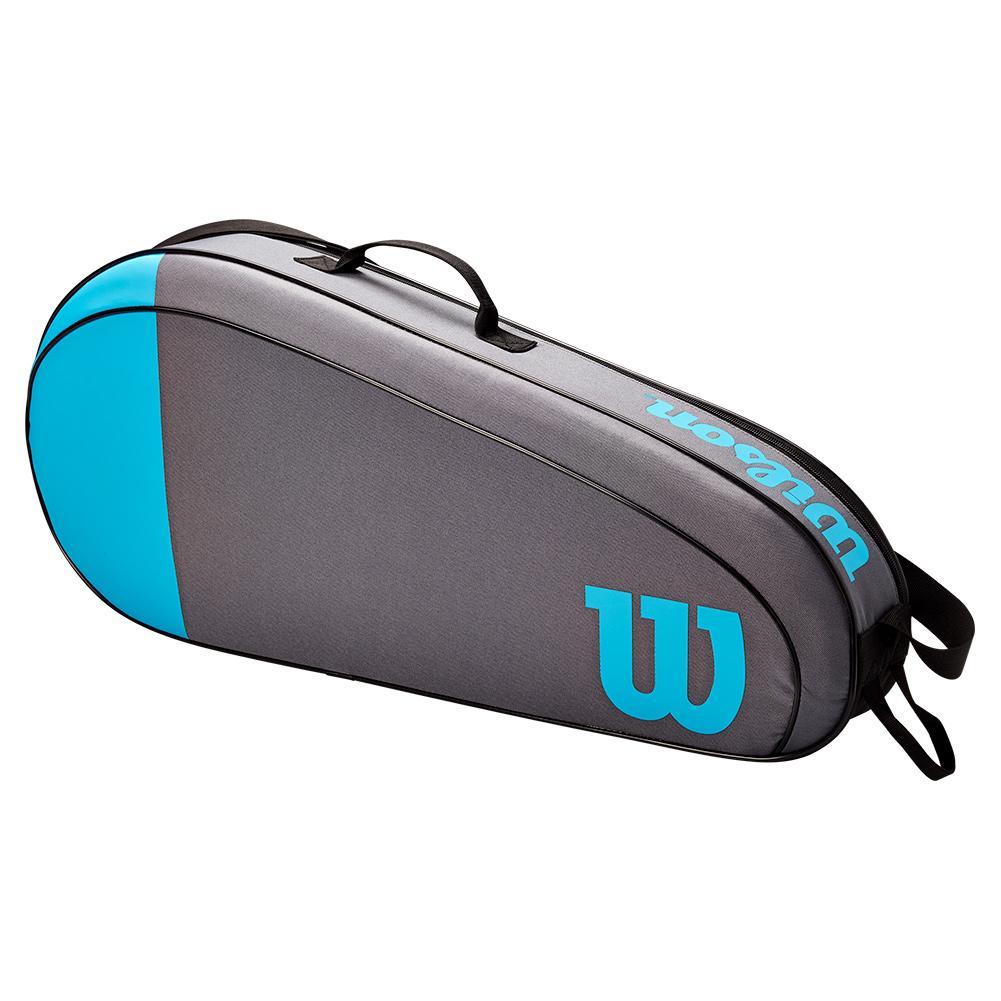 Raqueteira Wilson Esp Team 3R Cinza e Azul