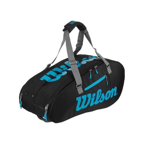 Raqueteira Wilson Esp Ultra X9 Preto e Azul