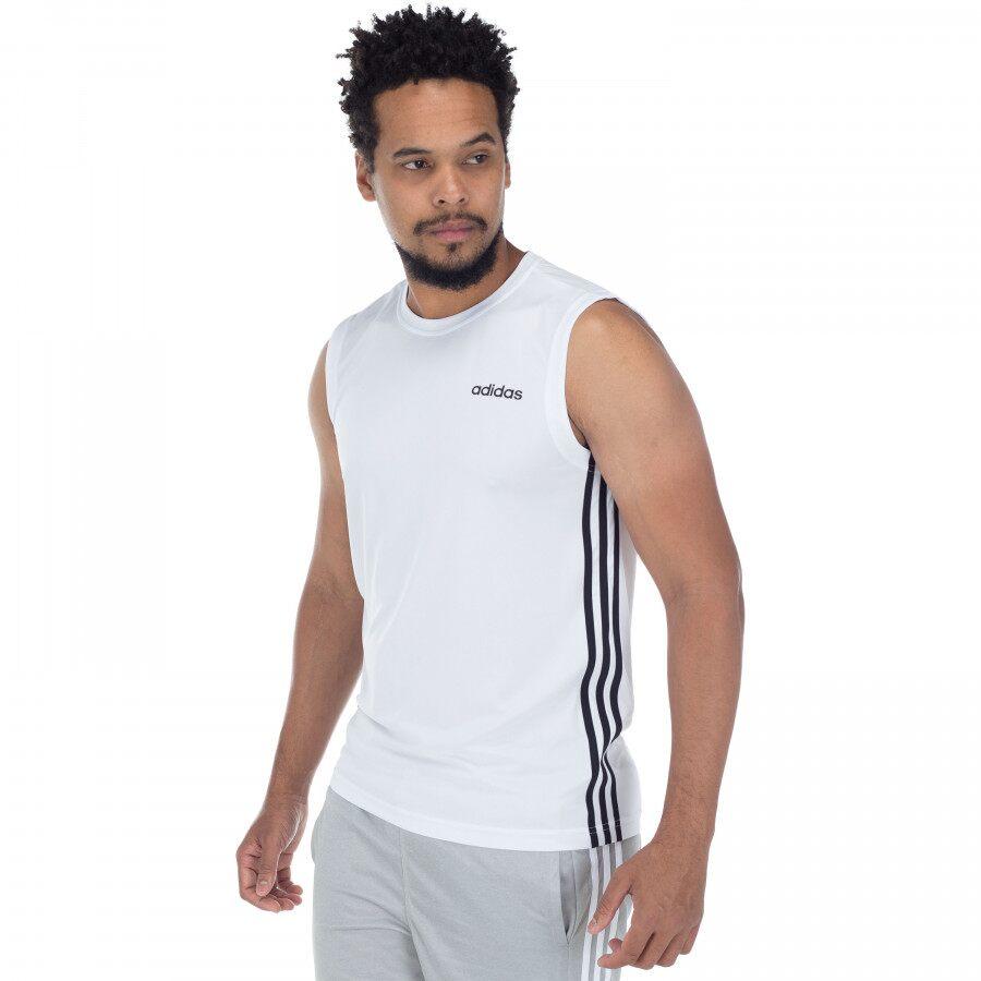 Regata Machao Adidas D2M SL 3S Branca