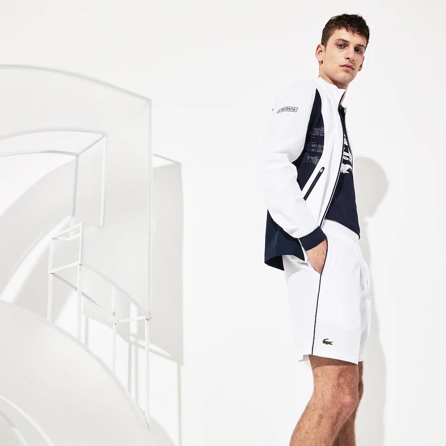Shorts Lacoste Masculino Sport Novak Djokovic Branco