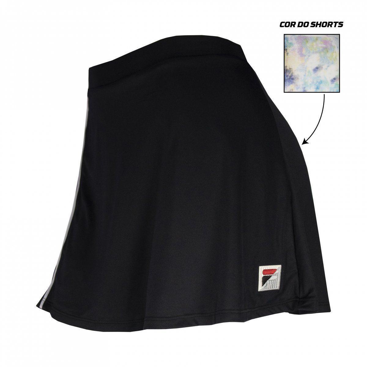 Shorts Saia Fila Aus 21 Preto