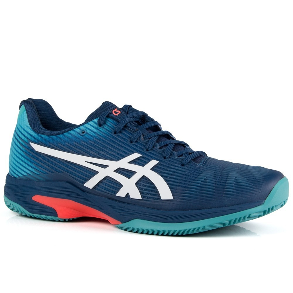 Tênis Asics Solution Speed FF Clay Azul Mako e Branco