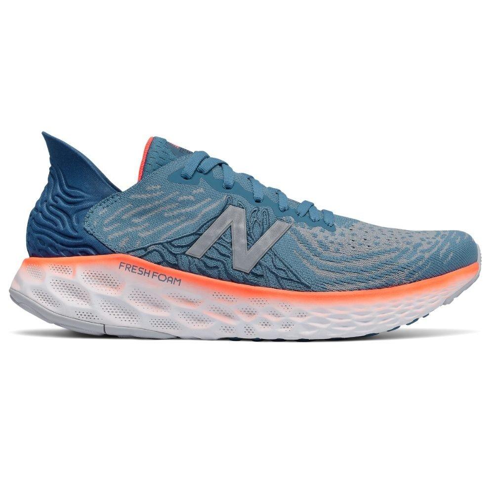 Tenis New Balance Masculino Fresh Foam 1080 V10 Azul e Laranja