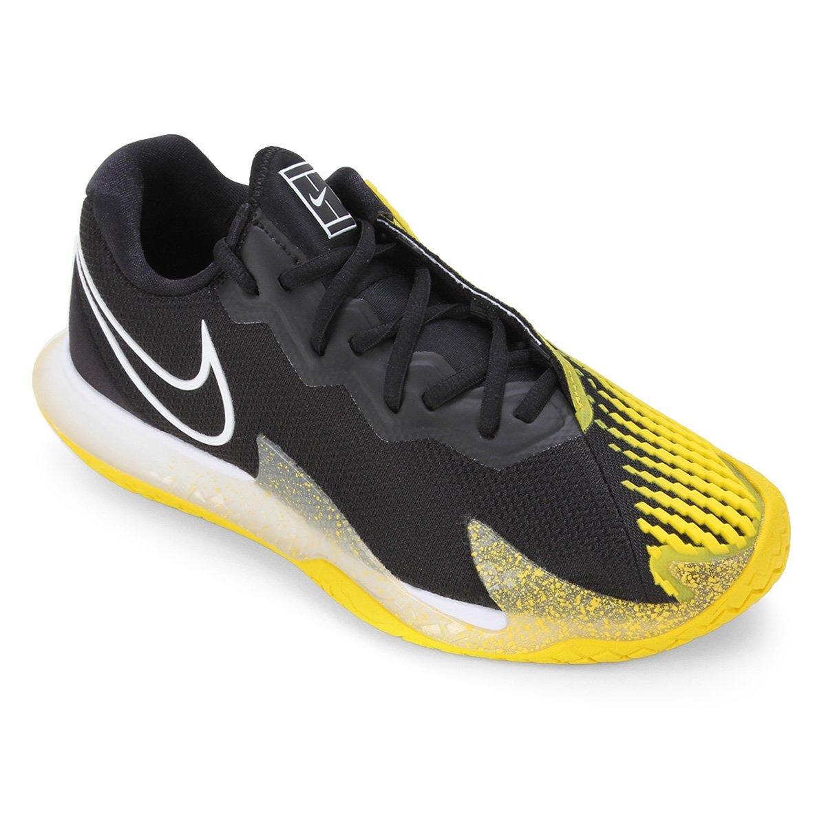 Tenis Nike Air Zoom Vapor Cage 4 HC Preto e Amarelo