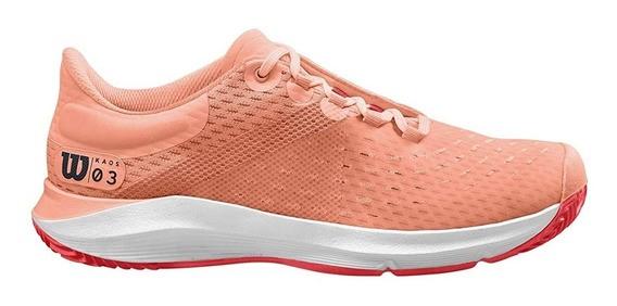 Tênis Wilson Kaos 3.0 Clay Feminino Coral