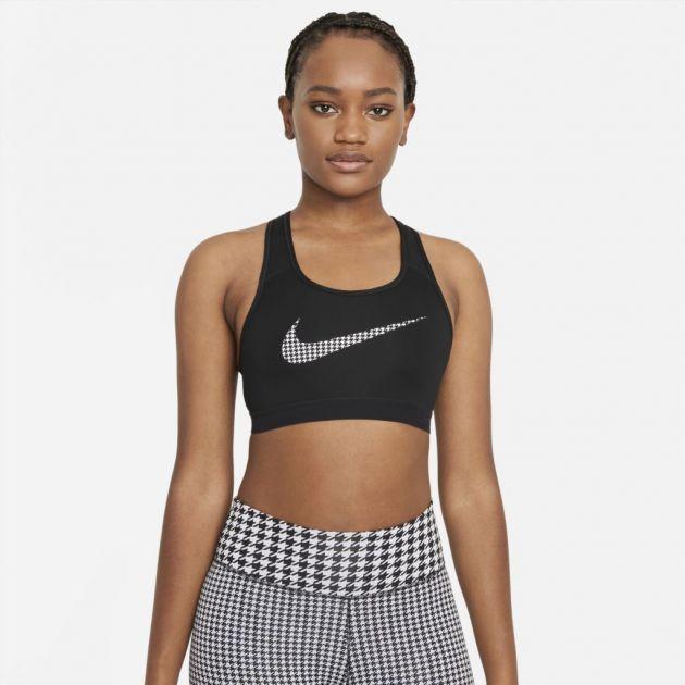 Top Nike Dri-Fit Swoosh Icon Clash Feminino Preto
