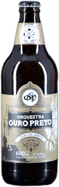 Cerveja Vinil Orquestra Ouro Preto - Pilsen, A Escolha do Maestro - Garrafa 600mL