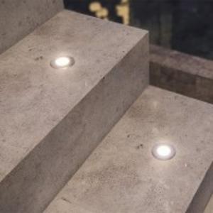 Balizador Embutido de Solo LED 0,5W Bivolt Âmbar