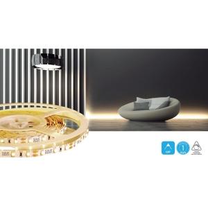 Fita LED 12V 4,8W/M 3000K Branco Quente IP20 Bivolt 5M Saveenergy SE-145.1429