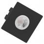 Kit 11 Spot Embutir Preto Orbital Quadrado Mini Dicroica MR11 Bivolt SaveEnergy com Lâmpada
