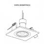 Kit 12 Spot Embutir Branco Face Plana Orbital Quadrado Mini Dicróica MR11 GU10 Bivolt SaveEnergy com Lâmpada