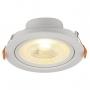 Kit 22 Spot LED Embutir Direcionável Redondo 6W Bivolt 3000K Branco Quente Blumenau