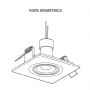 Kit 3 Spot Embutir Branco Face Plana Orbital Quadrado Mini Dicróica MR11 GU10 Bivolt SaveEnergy com lâmpada