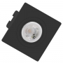 Kit 9 Spot Embutir Preto Orbital Quadrado Mini Dicroica MR11 Bivolt SaveEnergy com Lâmpada