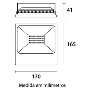 Refletor LED 50W Bivolt 3000K Branco Quente IP65 Germany