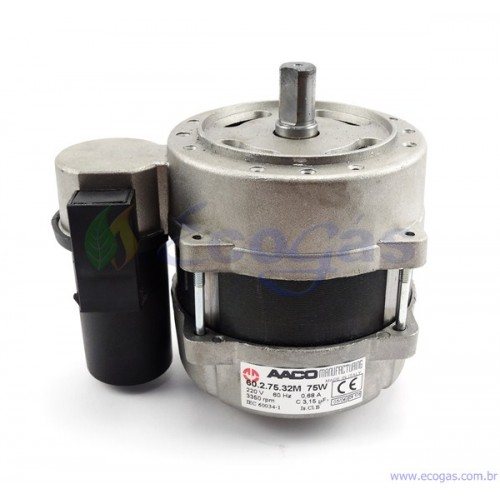 Motor elétrico AAco para queimadores monoblocos 3400 rpm 130 W