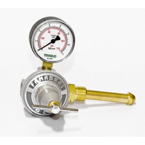 Válvula Reguladora de pressão á gas Com manômetro Famabras
