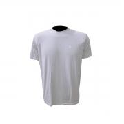 Camisa de Manga Curta de Poliamida com Elastano Cinza costas lisas