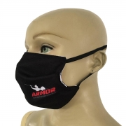 Máscara Facial com dupla Proteção e duplo ajuste elástico