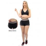 Short Flamê - Mescla feminino - Preto com cinza