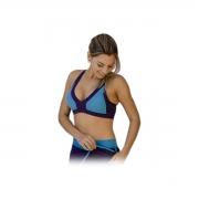 TOP Feminino Bicolor com Bojo Azul e Marinho