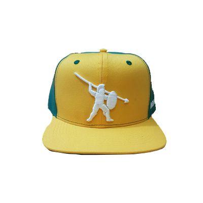 Boné Aba Reta Armor Fight - Amarelo e Verde bordado Branco